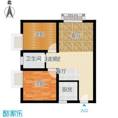 海宇依云香榭58.50㎡A4面积5850m户型