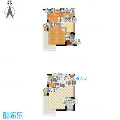 鹏润蓝海69.16㎡A2-I面积6916m户型
