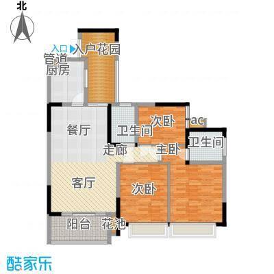 富洲新城100.36㎡一期5号楼A4面积10036m户型
