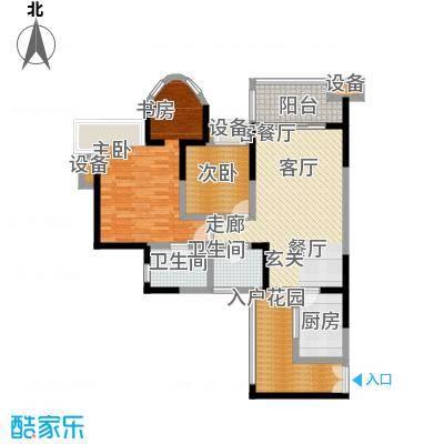 金辉融侨半岛香弥山1号85.88㎡1面积8588m户型