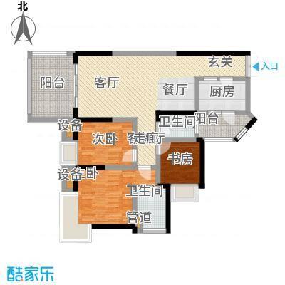 金辉融侨半岛香弥山1号91.85㎡1面积9185m户型