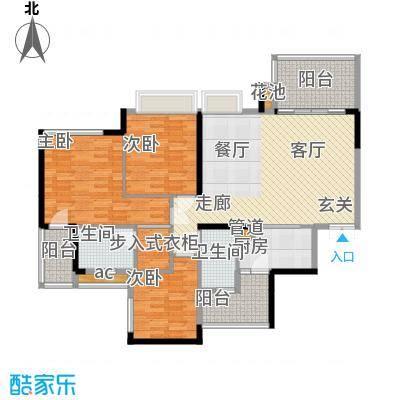 富洲新城103.49㎡一期6/7/8号楼D面积10349m户型