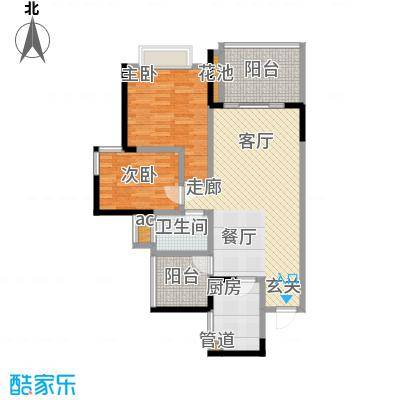 富洲新城76.58㎡一期4号楼标准层面积7658m户型