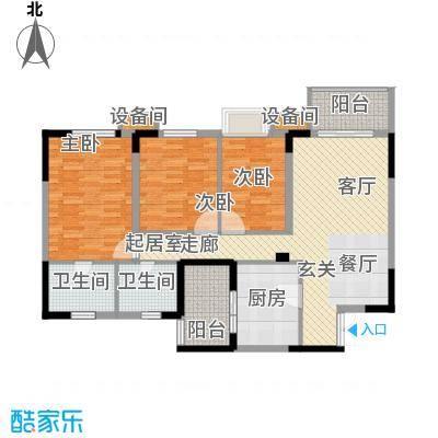 重庆天地雍江艺庭107.00㎡tower-面积10700m户型