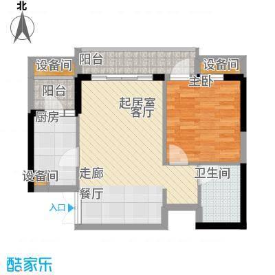 重庆天地雍江艺庭50.00㎡三期7号面积5000m户型