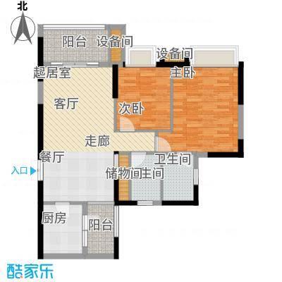 重庆天地雍江艺庭81.00㎡三期7号面积8100m户型
