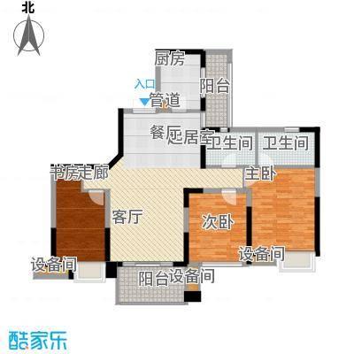 重庆天地雍江艺庭111.00㎡三期08面积11100m户型