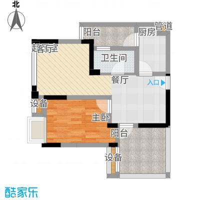 融汇半岛爱窝54.00㎡一期1-4号楼面积5400m户型