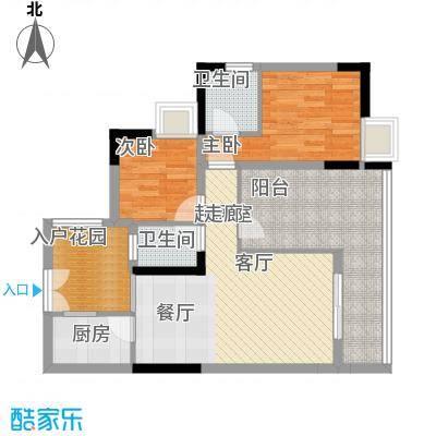 富士达锦绣格林76.29㎡2面积7629m户型