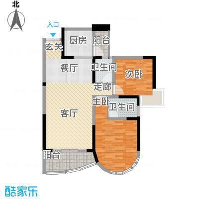 华宇金沙港湾81.50㎡B栋1单元3号面积8150m户型