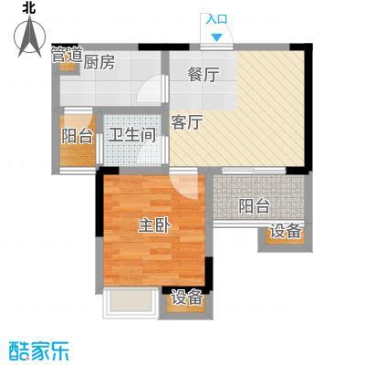 华宇金沙港湾34.95㎡E栋2-33层9面积3495m户型
