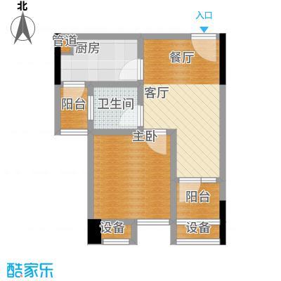 华宇金沙港湾34.87㎡F栋2-17层6面积3487m户型