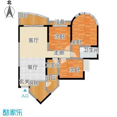 华宇金沙港湾101.14㎡D栋一单元2面积10114m户型