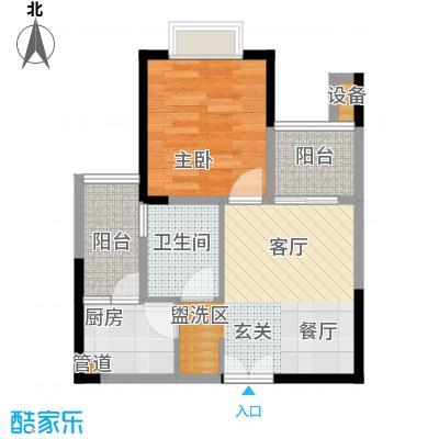 华宇金沙港湾40.41㎡C栋6号房1面积4041m户型