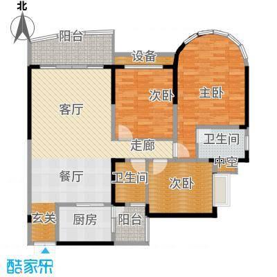 华宇金沙港湾105.80㎡C栋5号房3面积10580m户型
