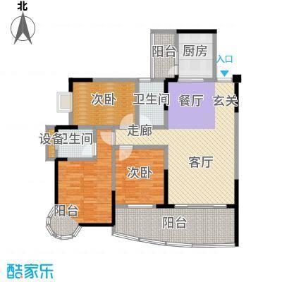 华宇金沙港湾114.72㎡D栋碧云楼5面积11472m户型