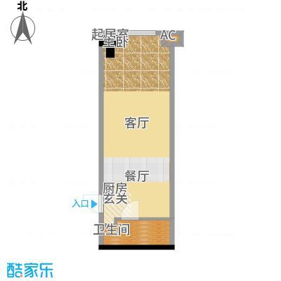协信城56.02㎡一期8号楼标准层C面积5602m户型