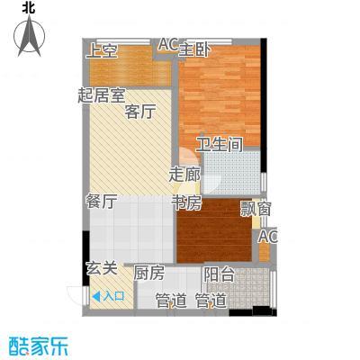 协信城65.22㎡一期8号楼标准层A面积6522m户型