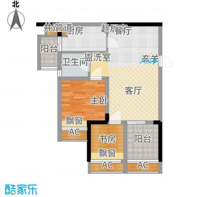 协信城56.07㎡二期2号楼标准层B面积5607m户型
