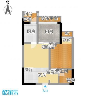 协信城42.57㎡二期6号楼标准层B面积4257m户型