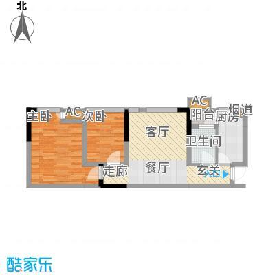 北城国际中心49.88㎡一期1号楼标面积4988m户型