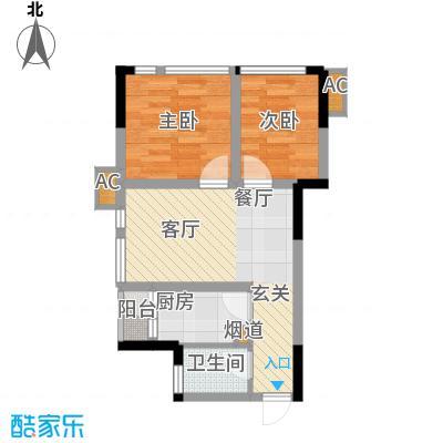 北城国际中心44.76㎡一期1号楼标面积4476m户型