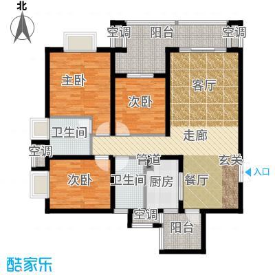 招商江湾城110.00㎡2-3C2面积11000m户型
