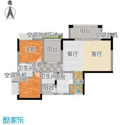 招商江湾城100.00㎡7-1-B/A2面积10000m户型