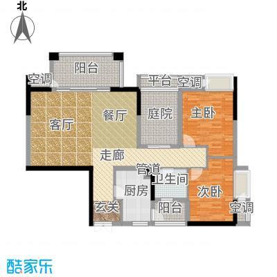 招商江湾城98.00㎡6-1-A面积9800m户型