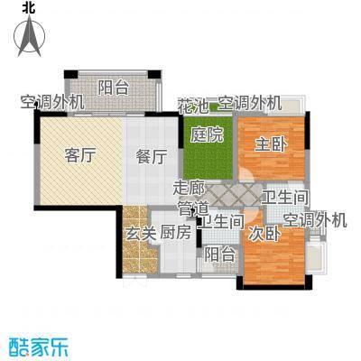 招商江湾城100.00㎡6-2-A/B2面积10000m户型