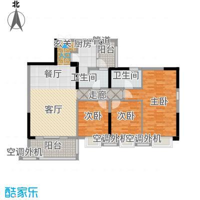 招商江湾城112.00㎡7-1-D/C2面积11200m户型