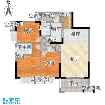 招商江湾城104.00㎡6-1-C面积10400m户型