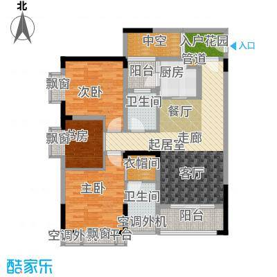 芸峰天梭派85.48㎡二期5/6号楼标面积8548m户型