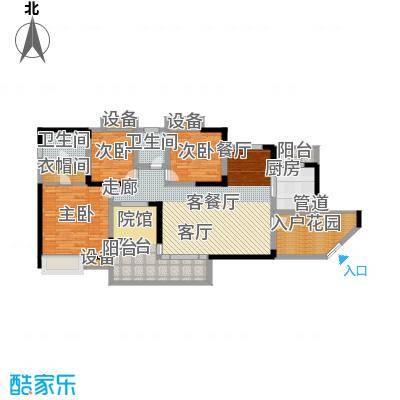 骏逸第一江岸121.56㎡2栋面积12156m户型