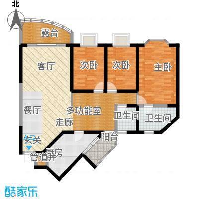 兰波红城丽景122.58㎡C-5、D-53面积12258m户型
