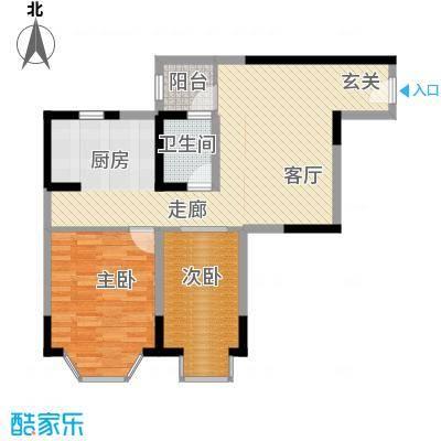 兰波红城丽景67.70㎡C-2、D-22面积6770m户型