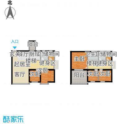 华立北泉花园123.29㎡B-5型2面积12329m户型