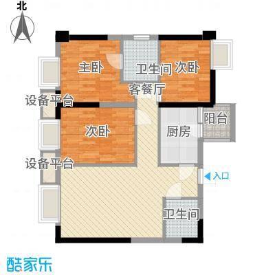 亚美沙发里76.16㎡一期A/B栋标准面积7616m户型