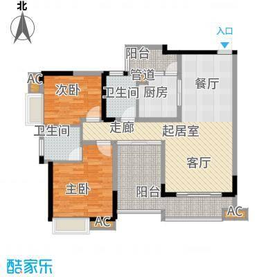 红树林85.35㎡3期4号楼B面积8535m户型