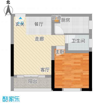 学林佳苑45.77㎡B6、B91面积4577m户型