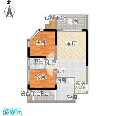 学林佳苑55.78㎡B121面积5578m户型