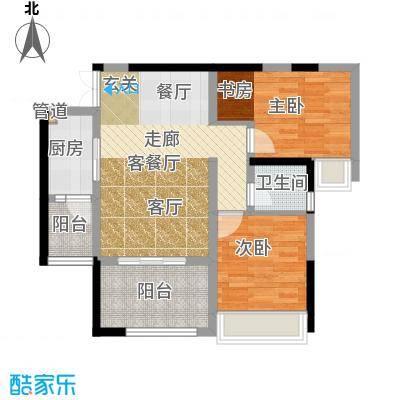 晋愉天意70.54㎡一期3栋B(标面积7054m户型