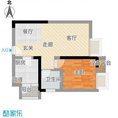 学林佳苑44.31㎡A5、A61面积4431m户型