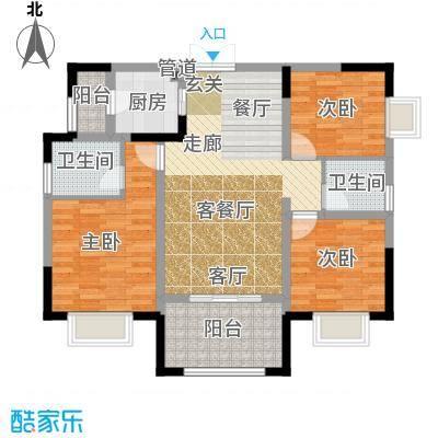 晋愉天意87.53㎡一期1、2、4、5面积8753m户型