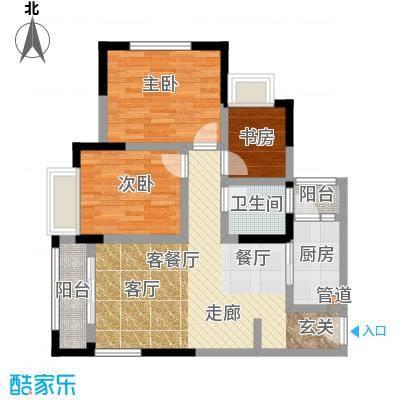 晋愉天意69.52㎡一期1、2、4、5面积6952m户型