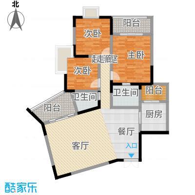 晋愉上江城128.72㎡面积12872m户型