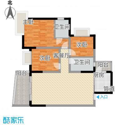 港城凤鸣香山94.43㎡6号楼2面积9443m户型