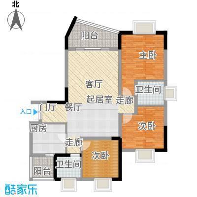 晋愉上江城107.34㎡面积10734m户型
