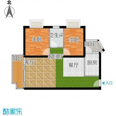 晋愉绿岛翡冷翠93.00㎡面积9300m户型