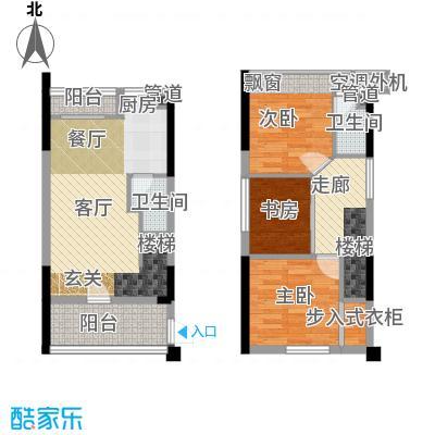 同景国际城迈上42.59㎡2、3号楼面积4259m户型